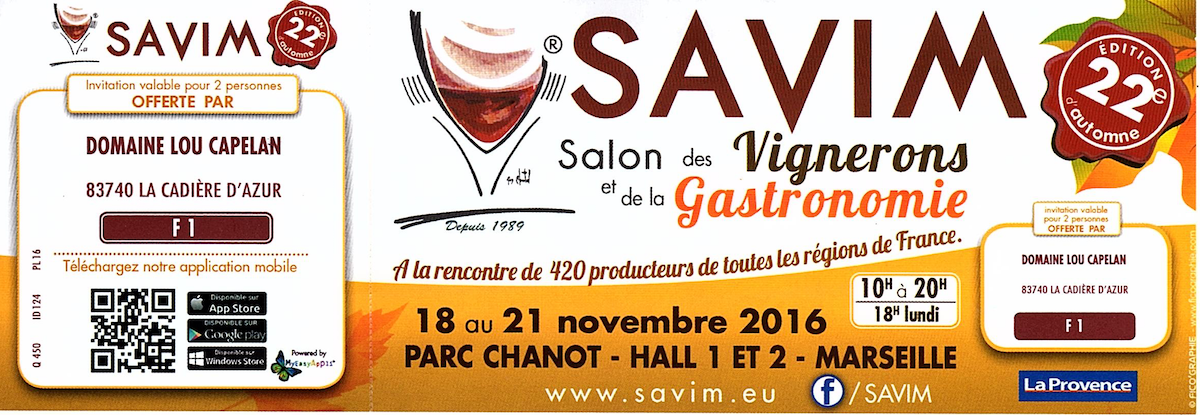 Salons ev nements du domaine lou capelan - Salon des vignerons independants nice ...